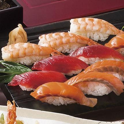 【特別メニュー】握り寿司(マグロ、サーモン、海老)<ランチ&ディナー>