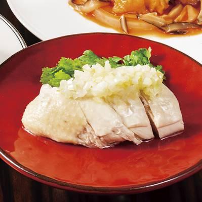 蒸し鶏の葱ソース