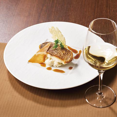 【1月のメイン料理】真鯛のソテー カリフラワーリゾット仕立て