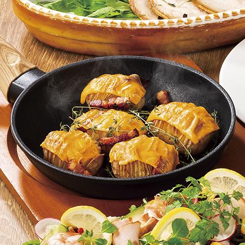 ハッセルバックチーズポテト スウェーデン風ポテト料理