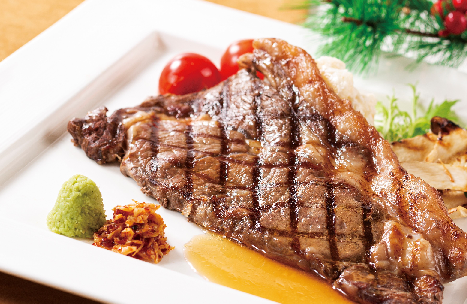 【ランチ&ディナー】北海道産牛ロースのステーキ(1人1皿)