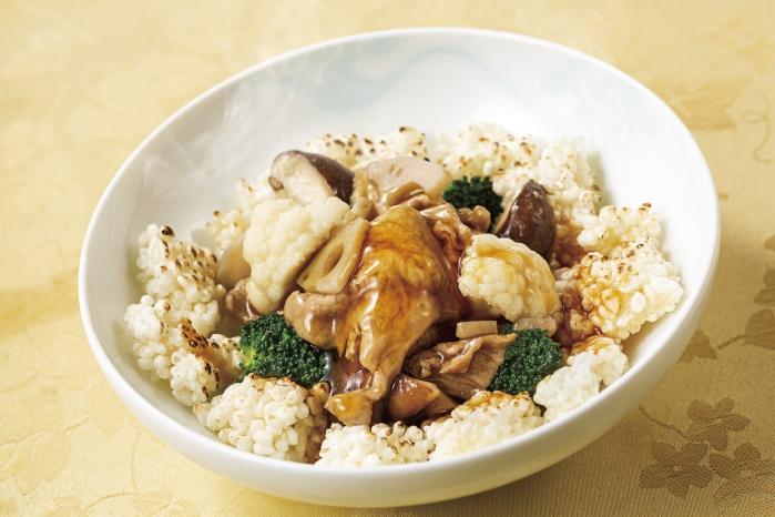 千葉県産豚肉とおこげの炒め