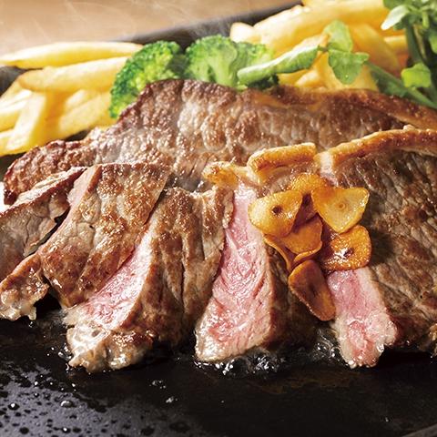 【特別メニュー】実演:熟成旨み牛 サーロイン鉄板焼き<ランチ&ディナー>
