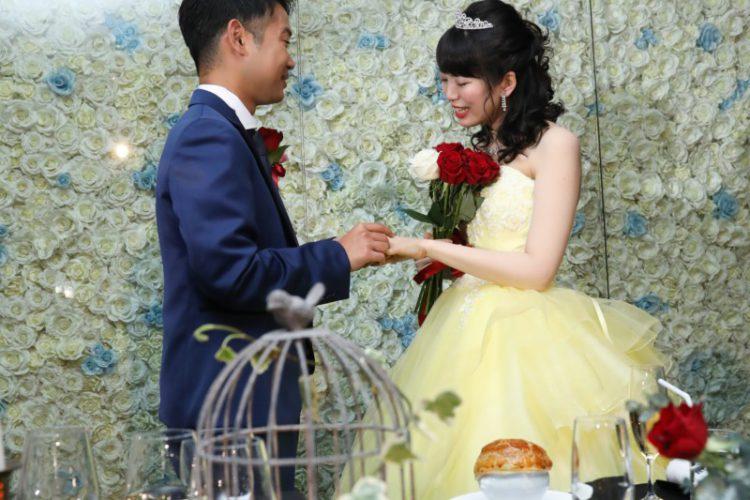 バラの花に想いを託して・・・打ち合わせ2か月半でも大満足の結婚式!