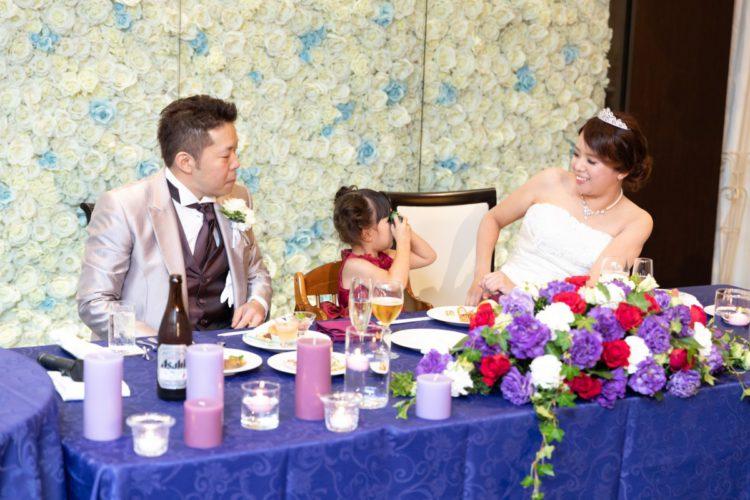 家族三人でのおもてなし  ゲストの方と一緒に創り上げたウエディング